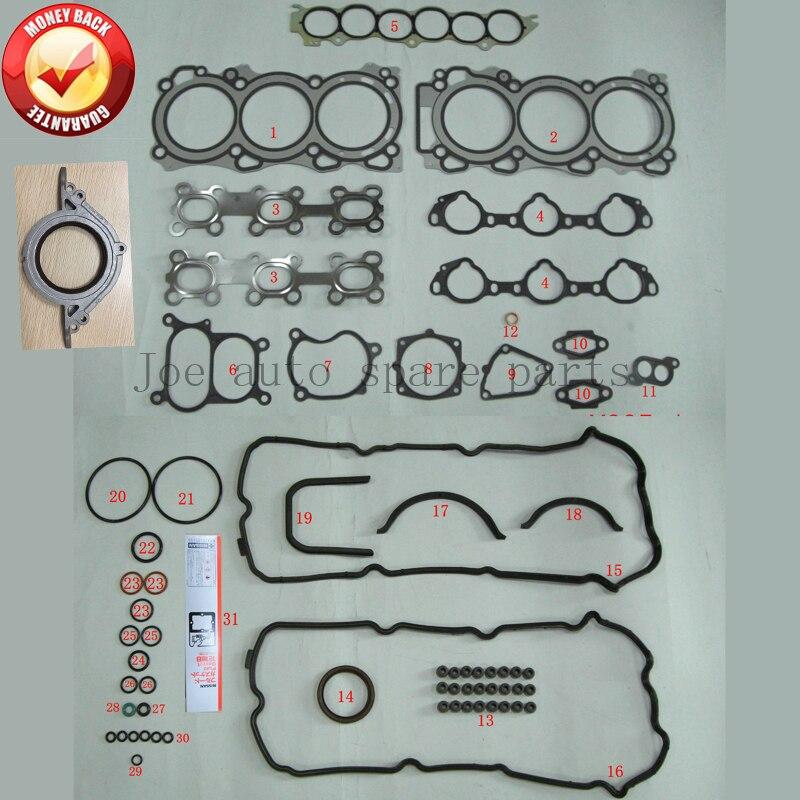 VQ35DE 3.5L 3498cc kit completo Do Motor junta conjunto Completo para Nissan/Renault/Infiniti A0101-CA025 A0101CA025