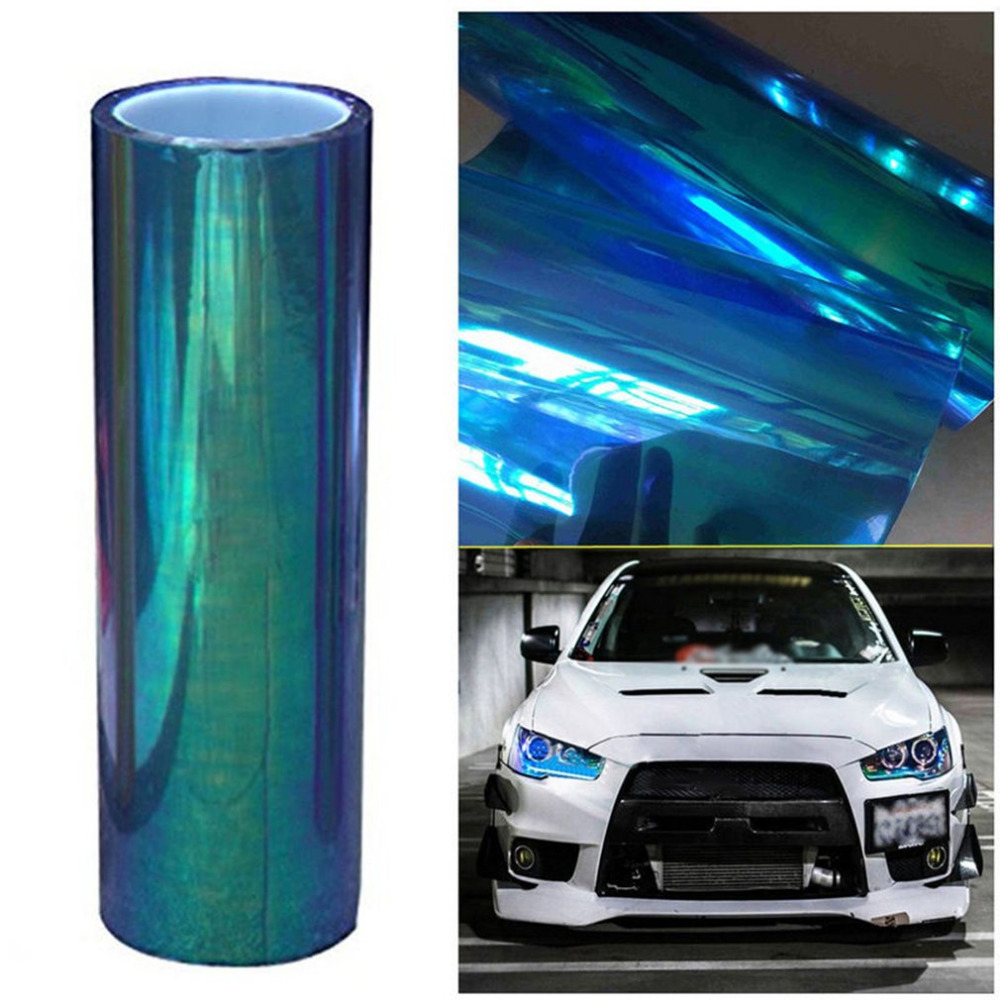 New 30*200CM Colorful Transparent Car Stickers Strong Self-Adhesive SUV Headlight Taillight Vinyl Film Car Stickers Car-styling 10m super strong waterproof self adhesive double sided foam tape for car trim scotch