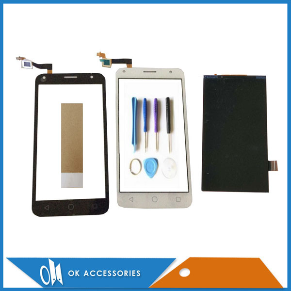 Black White Color For Alcatel One Touch 5010 5010D OT5010 LCD Display Screen +Touch Screen Digitizer With Tools Tape 1PC/Lot