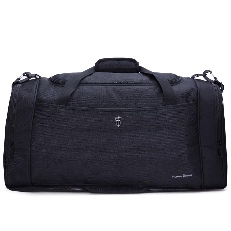 VICTORIATOURIST 2017 travel bags for men/ men fashion travel bag /duffle bag/ waterproof nylon travelling bag/V7006 black