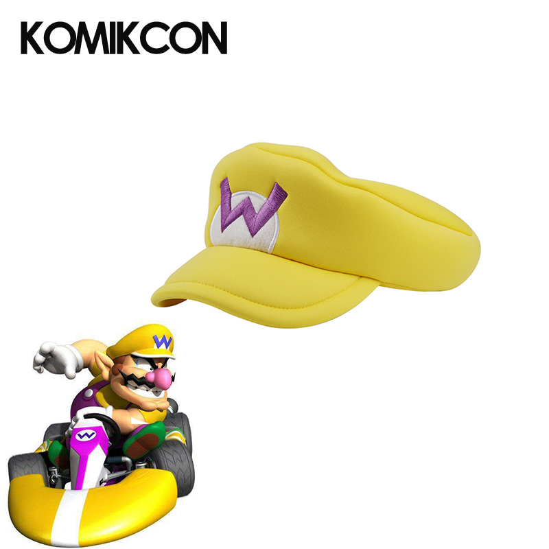 5567f76a73544 Game Super Mario Odssey Bros Hats Anime Wario Cosplay Costumes Accessories  Adults Kids Caps for Halloween