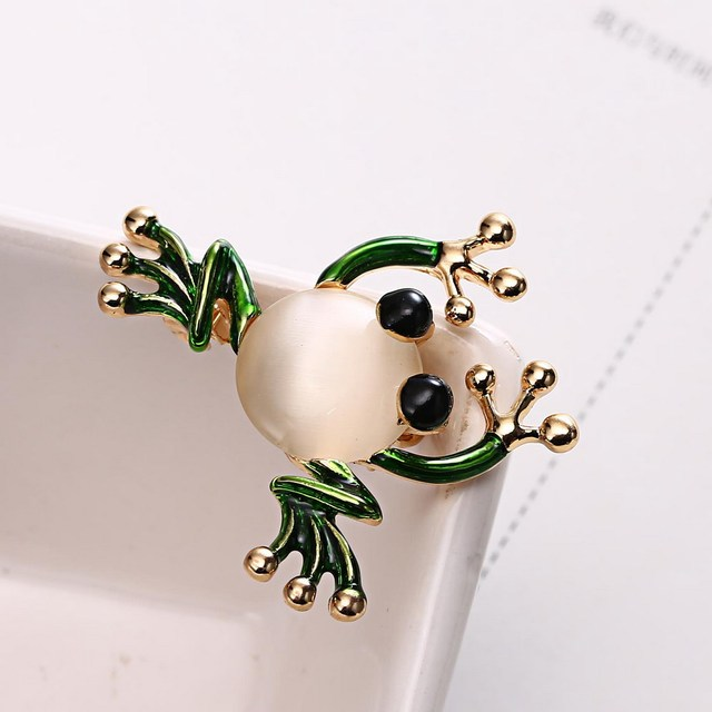 Trendy Animal Frog Brooch Pins Crystal Brooches Women Decoration Clothes Accessories Wedding Jewelry Brooches For Girls