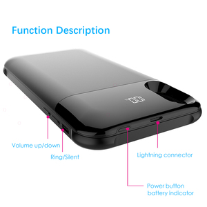 Image 4 - ZKFYS 5000mAh Wireless Charging Magnetic Battery Case For iPhone X XS Battery Charger Cases Backup Power Bank Charging Cover