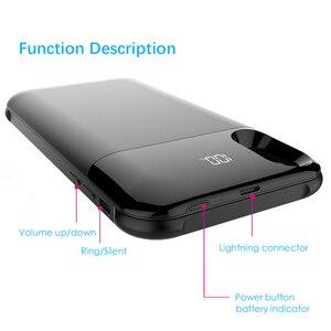 Image 4 - Zkfys 5000 7000mahワイヤレス充電磁気iphone 5 x xsバッテリー充電器ケースバックアップ電源銀行充電カバー