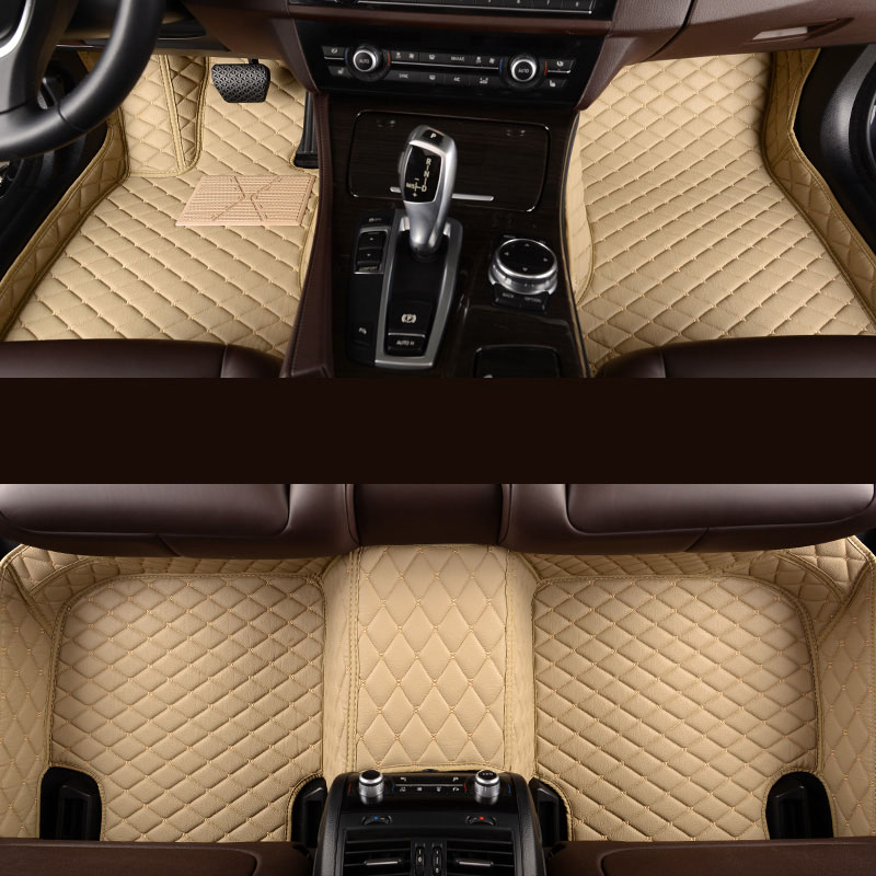 kalaisike Custom car floor mats for Land Rover All Models Discovery 3 4 Rover Range Evoque Sport Freelander car styling kalaisike plush universal car seat covers for land rover all model rover range evoque sport freelander discovery 3 4 car styling