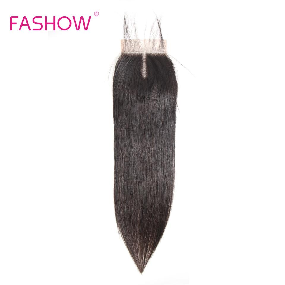 Perruque Lace Closure naturelle Remy indienne-Fashow | 4x4, Swiss Lace, avec Baby Hair, naissance de cheveux naturels, pre-plucked