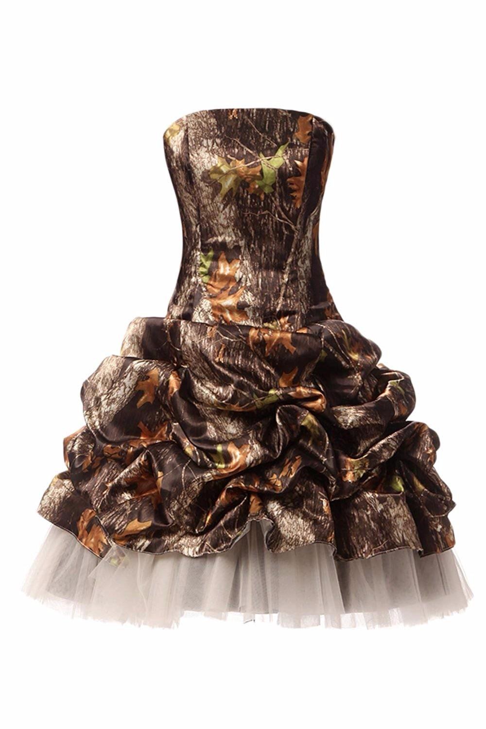 Bealegantom 2019 nouvelle haute qualité courte Satin Camo robes de bal Camouflage soirée retour robe de soirée QA1570