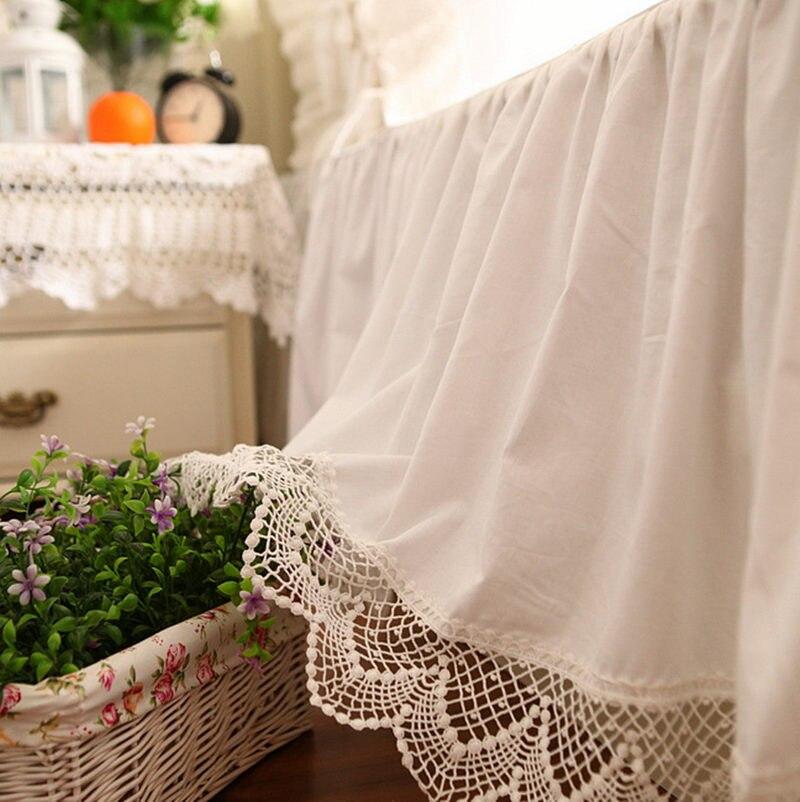 Top luksusowe łóżko spódnica romantyczny haft koronki narzuta elegancki narzuty łóżko arkusz dla dekoracje ślubne księżniczka narzuty w Falbany na łóżka od Dom i ogród na AliExpress - 11.11_Double 11Singles' Day 1