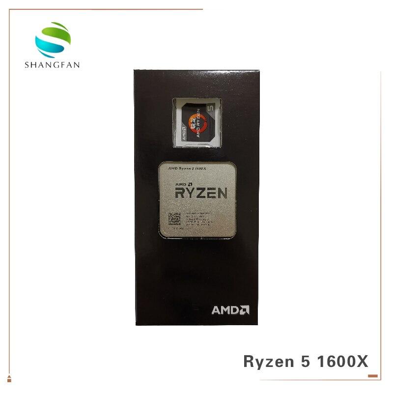 Novo AMD Ryzen 5 1600X R5 1600X3.6 GHz Six-Core 95 Doze-Processador CPU Fio W l3 = 16M YD160XBCM6IAE Tomada AM4