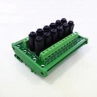 Módulo de fusible, montaje en carril DIN 12 fusible canal Módulo de distribución de energía junta.