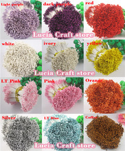 576pcs 1mm multi colors options flower stamen floral cake decoration Double heads 11010105(576)