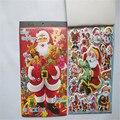 2 шт./лот Четыре в Рождество серии книга наклейки наклейки пузырь Мультфильм чувствительный к давлению клей наклейки
