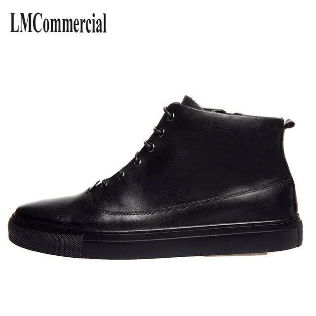 Korea pria musim semi sepatu pria sepatu bot kulit tinggi sepatu pria boots  Martin gaun bisnis 9dbce668a9
