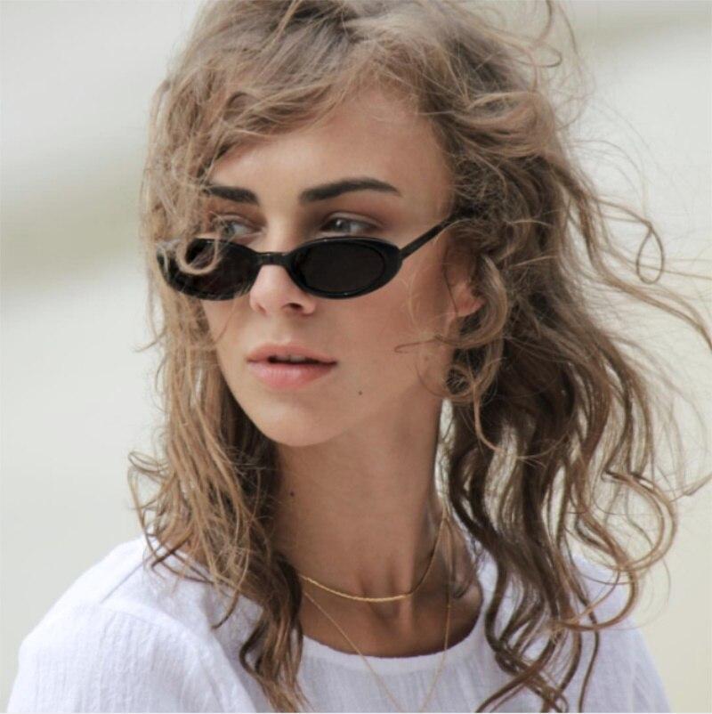 Retro Sunglasses Women Brand Oval Sunglasses Vintage Small Frames Men 2018 New Luxury Clear Blue Red Pink Glasses Ladies UV400