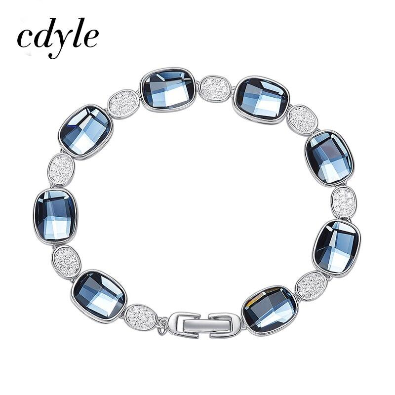 Cdyle agrémenté de cristaux Bracelet femmes Bracelet pour femmes Bracelet autrichien strass bijoux de mode