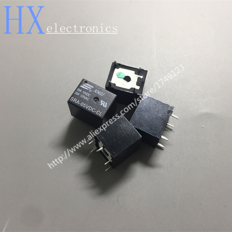 Free shipping 5PCS Power relays SRA-05VDC-CL SRA-12VDC-CL SRA-24VDC-CL 5V 12V 24V 20A 5PIN T74 power relays sre 05vdc sl 2c sre 12vdc sl 2c sre 24vdc sl 2c 5v 12v 24v 3a 240v 8pin relay wholesale price