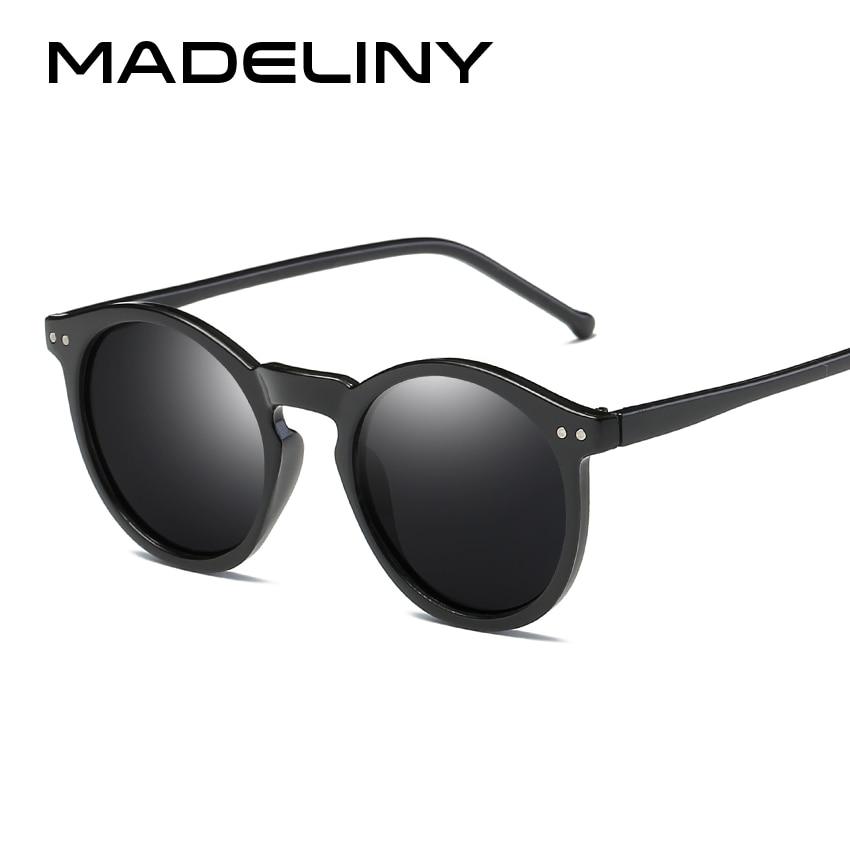 MADELINY Brand Designer Ellipse Shape Multiple Color Reflective Sunglasses Women Vintage Keyhole Mirror Glasses UV400 MA019