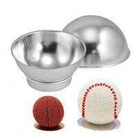 2 cái Nhôm Bóng Sphere Cake Pan Tin DIY Baking Pastry Bóng Khuôn Công Cụ Khuôn Mẫu Bếp Molds Quả Bom Tắm Bakeware E103