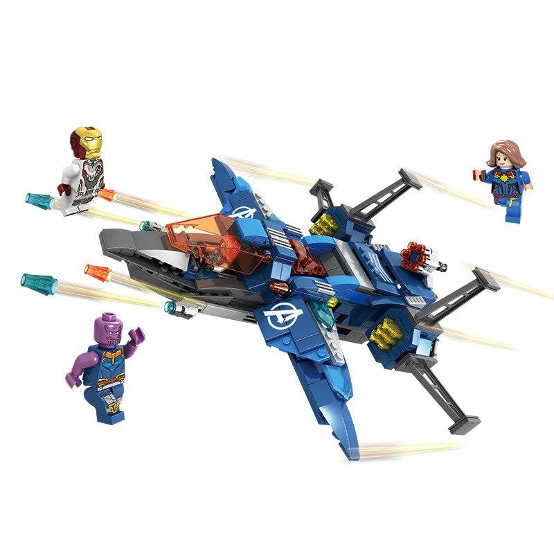 Avengers 4 Endgame Avengerss Ultimate Quinjet Set Compatible Building Blocks Bricks Boy Toys in Blocks from Toys Hobbies