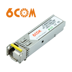 6COM Compatible for Transition-networks TN-SFP-LXB22, BiDi SFP Transceiver,1000BASE-BX 1550nm-TX/1310nm-RX 20km