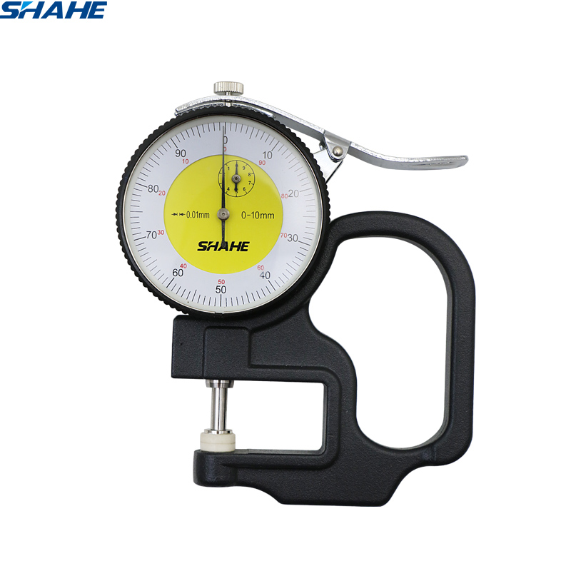 shahe metric thickness gauge 0-10 mm 0.01 mm  dial indicator thickness gaugeshahe metric thickness gauge 0-10 mm 0.01 mm  dial indicator thickness gauge