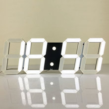 Large Led Digital Wall Clock Modern Design Show 16 group Alarms Temperature  Date  Countdown  Wall  Watch In The Living Room