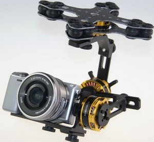 Image 1 - 3 Axis Gimbal Brushless with 4108 Motor Alexmos 8 bit 32 bit Controller for Sony NEX ILDC Camera
