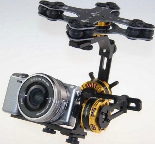 3 Axis Gimbal Brushless with 4108 Motor Alexmos 8 bit 32 bit Controller for Sony NEX ILDC Camera