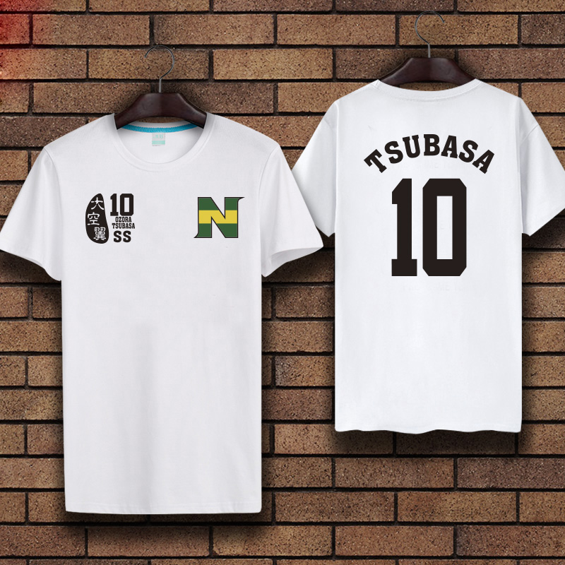 Kid N Adult sizes 100% Cotton t shirt!Anime Captain Tsubasa Jersey Uniform Cosplay t-shirt Summer Top tees 2 colors in