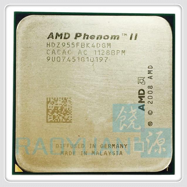 AMD Desktop CPU Hdx955fbk4dgm-Socket AM3 Phenom-Ii X4 Quad-Core 125W 955x4-955
