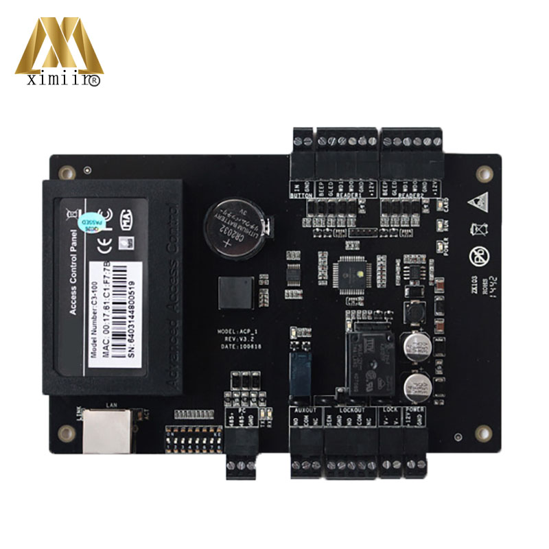 ZK C3-100 Intelligent One-door Two-Way Access Control Board C3 Control Panel Aceess Control System With TCP/IP RX232/485 wg tcp ip rs485 one door two way rfid access control panel c3 100 access control security system