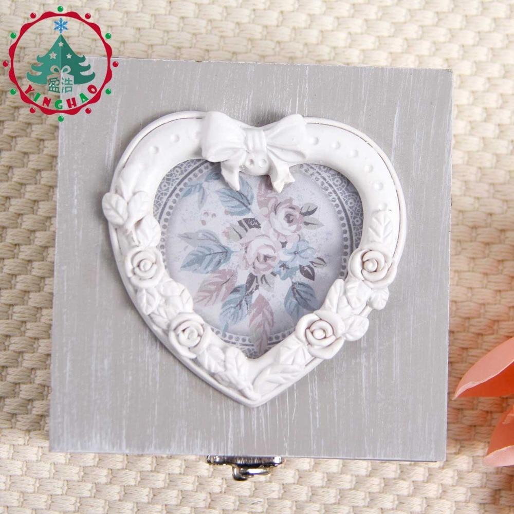 inhysa 1 st Chic Hantverk Smycken Square Shape Box Förvaring DIY - Heminredning - Foto 4