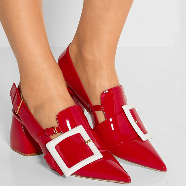 Popular Red Chunky Heels-Buy Cheap Red Chunky Heels lots from