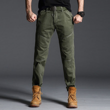 High Quality Men's Casual Loose Pants Spring Autumn Cotton Army Tactical Military Cargo Pants Men Overalls Long Trousers Joggers