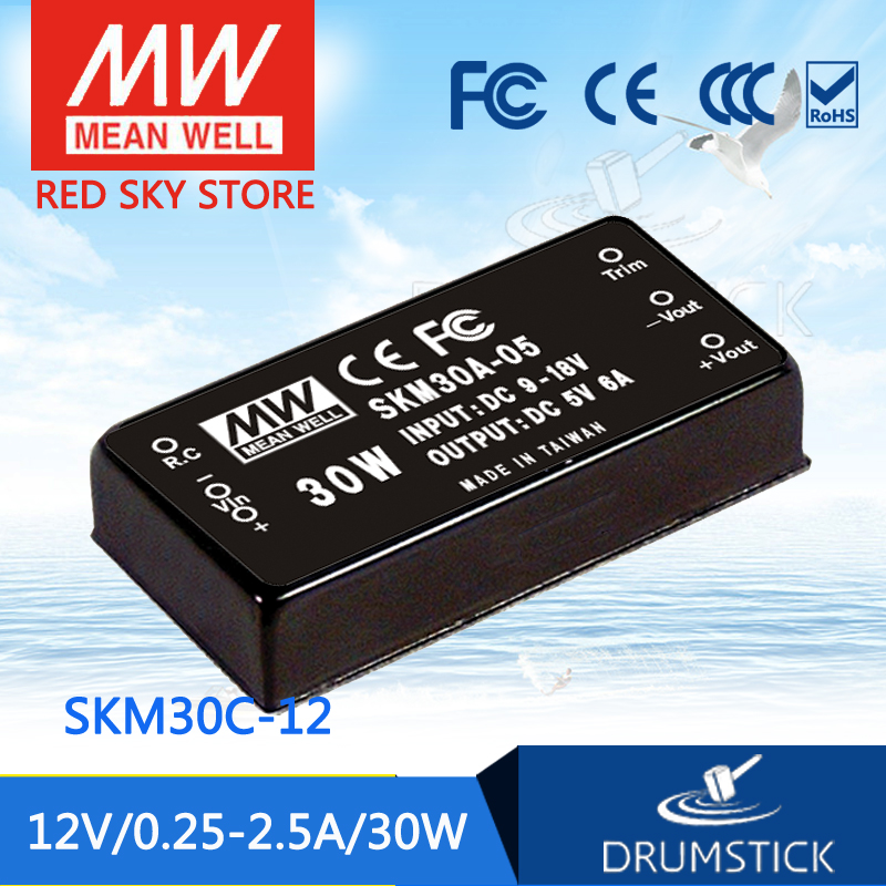 цена на MEAN WELL SKM30C-12 12V 2.5A meanwell SKM30 12V 30W DC-DC Regulated Single Output Converter