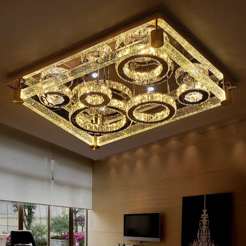 Led plafonnier rectangle cristal lampe moderne bref luxe de la bulle cristal colonne lampesLed plafonnier rectangle cristal lampe moderne bref luxe de la bulle cristal colonne lampes