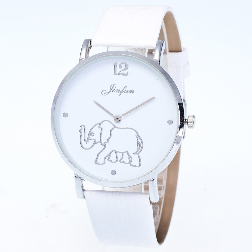Women Watches Elephant  Brand Fashion Simple Dress Watches Dial Girl Clockwise Display Leather Strap Woman Quartz Watch