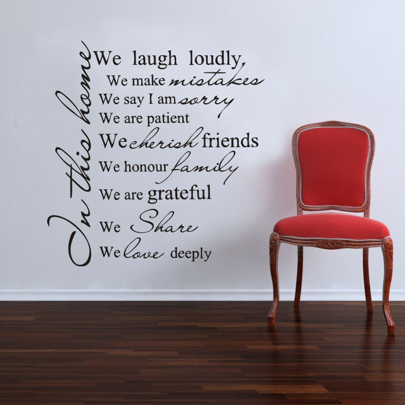 Buy In This House We Love Deeply Quotes Family Wall Stickers Art Living Room