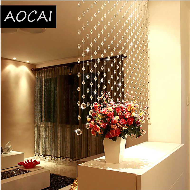 window treatments for living room simple curtains 1 square meter crystal beads ...
