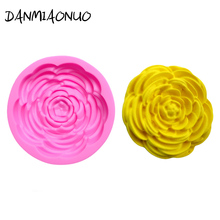 Cartoon Rose flower Moule Silicone 3d Tools Cake Decoration Bakeware Jelly Pudding Mold Baking
