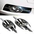 2Pcs L/R ABS Chrome Front Fog Lamp Cover for Chevrolet CRUZE 2009-2012 Decoration Accessories