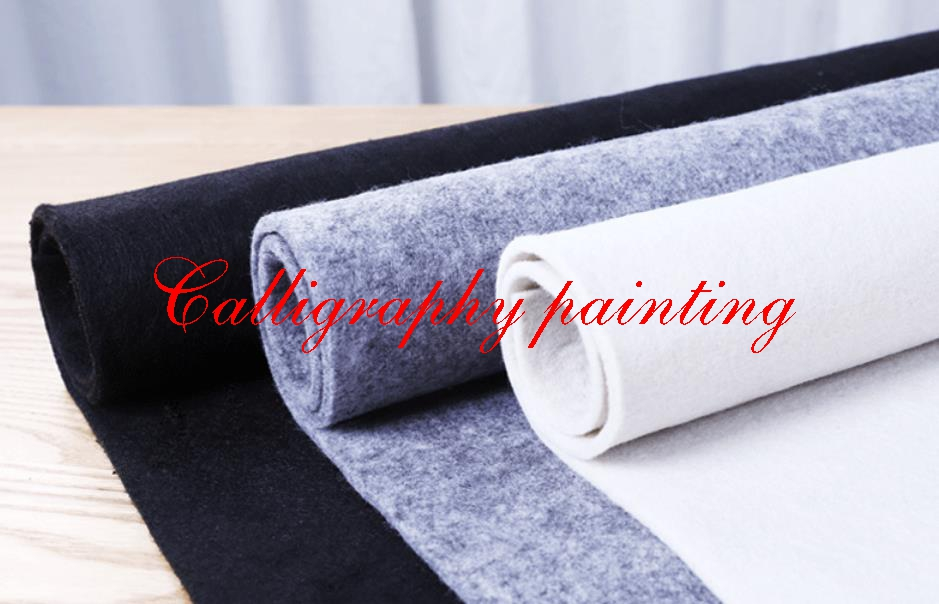 1pc Felt Mat Pad Blanket Chinese Water Ink Brush Painting Calligraphy Sumi-e Tool Thick 5mm