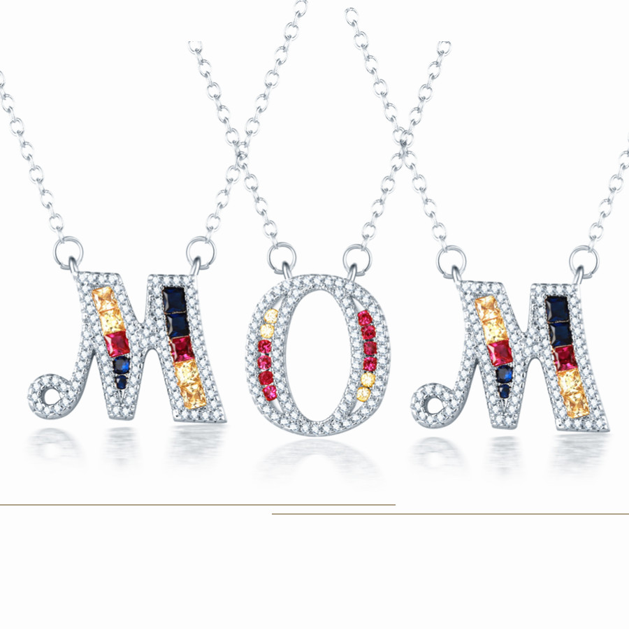 US $4 59 |Silver Color 26 Letters Pendant Necklaces Women MOM Special Name  Meaning Jewelry Lover Gift DropShipping-in Pendant Necklaces from Jewelry &