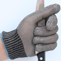 1 Pair Full Finger 100 Stainless Steel Gloves Durable Anti Cut Finger Protector Gloves For Men