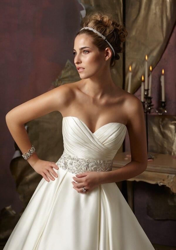 Charming Sweetheart Off The Shoulder A Line Beaded Sash Elegant Vintage 2015 Wedding Dresses