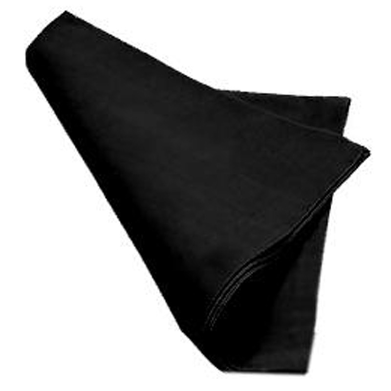 12pcs 45*45cm Dobule Stitched Edge Polyester White/Black Table Napkin For Wedding Party Event Decoration table napkin napkins for weddings napkin for table - title=