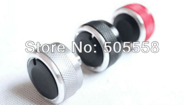 Free Shipping 3pcs/set Aluminum Alloy Air Conditioning Knob Switch For  2011-2013 SUZUKI SWIFT