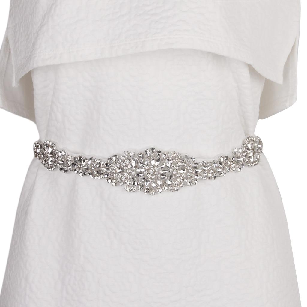 Wedding Bridal   Belt   Crystal Rhinestone Dress Sash Prom Sash Wedding Sash   Belt   Cloth Accessories