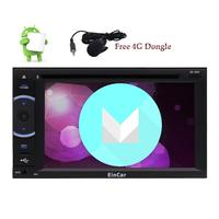 4G Dongle Android 6 0 In Dash Quad Core 6 2 Car DVD Player External Micro