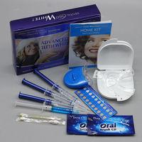 Professional Teeth Whitening Kit 4 Gel 2 Strips 1 LED White Tooth Bleach Blanchiment Dent Tanden